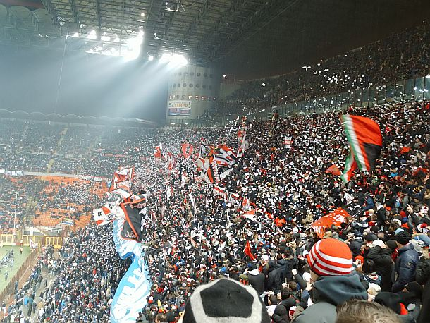 AC Milan Derby vs Inter at San Siro Derby 24th February 2013
